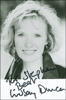 LINDSAY DUNCAN - AUTOGRAPHED INSCRIBED PHOTOGRAPH
