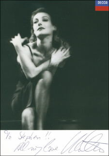 UTE LEMPER - AUTOGRAPHED INSCRIBED PHOTOGRAPH