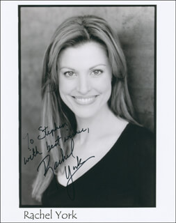 RACHEL YORK - AUTOGRAPHED INSCRIBED PHOTOGRAPH