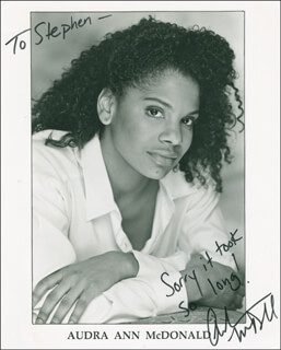 AUDRA ANN MCDONALD - AUTOGRAPHED INSCRIBED PHOTOGRAPH