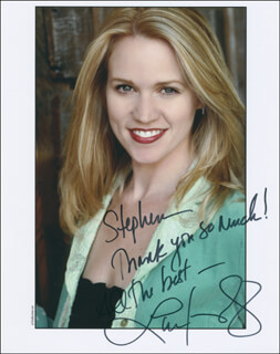LAUREN KENNEDY - AUTOGRAPHED INSCRIBED PHOTOGRAPH