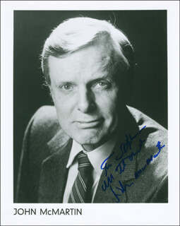 JOHN McMARTIN - AUTOGRAPHED INSCRIBED PHOTOGRAPH