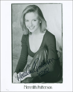 MEREDITH PATTERSON - AUTOGRAPHED SIGNED PHOTOGRAPH