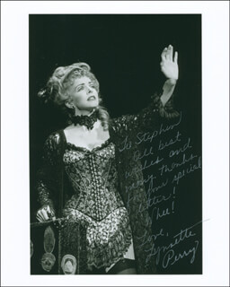 LYNNETTE PERRY - AUTOGRAPHED INSCRIBED PHOTOGRAPH