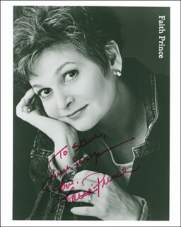 FAITH PRINCE - AUTOGRAPHED INSCRIBED PHOTOGRAPH