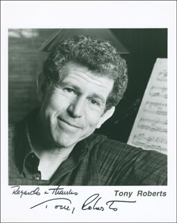 TONY (ANTHONY) ROBERTS - AUTOGRAPHED SIGNED PHOTOGRAPH