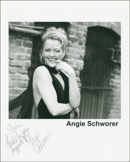 ANGIE SCHWORER - AUTOGRAPHED INSCRIBED PHOTOGRAPH