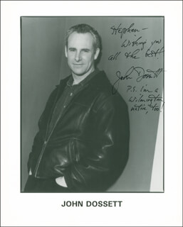 JOHN DOSSETT - AUTOGRAPHED INSCRIBED PHOTOGRAPH