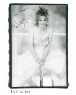HEATHER LEE - AUTOGRAPHED SIGNED PHOTOGRAPH