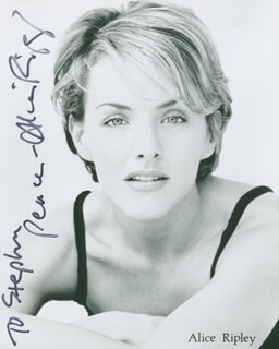 ALICE RIPLEY - AUTOGRAPHED INSCRIBED PHOTOGRAPH