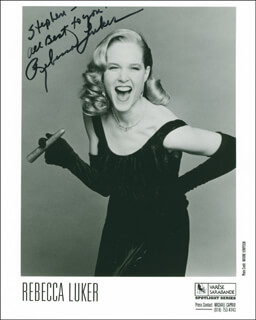 REBECCA LUKER - AUTOGRAPHED INSCRIBED PHOTOGRAPH