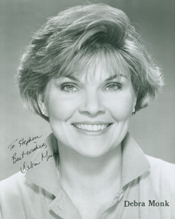 DEBRA MONK - AUTOGRAPHED INSCRIBED PHOTOGRAPH