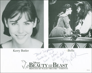 KERRY BUTLER - AUTOGRAPHED INSCRIBED PHOTOGRAPH