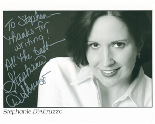 STEPHANIE D'ABRUZZO - AUTOGRAPHED INSCRIBED PHOTOGRAPH