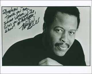 MICHEL BELL - AUTOGRAPHED INSCRIBED PHOTOGRAPH