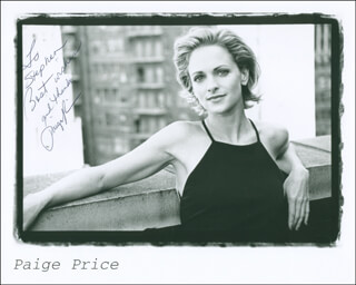PAIGE PRICE - AUTOGRAPHED INSCRIBED PHOTOGRAPH