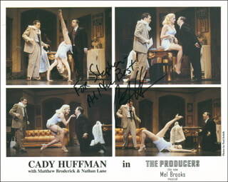 CADY HUFFMAN - AUTOGRAPHED INSCRIBED PHOTOGRAPH