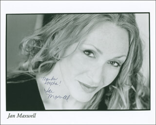 JAN MAXWELL - AUTOGRAPHED INSCRIBED PHOTOGRAPH