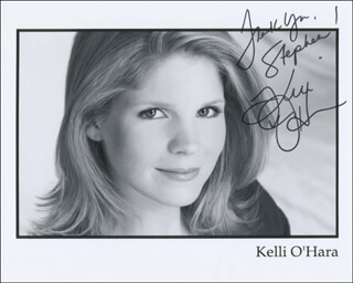 KELLI O'HARA - AUTOGRAPHED INSCRIBED PHOTOGRAPH