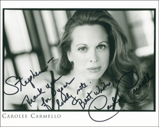 CAROLEE CARMELLO - AUTOGRAPHED INSCRIBED PHOTOGRAPH