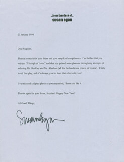 SUSAN EGAN - TYPED LETTER SIGNED 01/20/1998