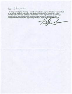 HUGH PANARO - TYPED LETTER SIGNED