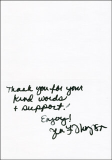 JENNIFER LAURA THOMPSON - AUTOGRAPH SENTIMENT SIGNED