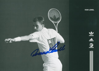 IVAN LENDL - ADVERTISEMENT SIGNED