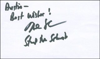 HOWIE SCHWAB - AUTOGRAPH NOTE SIGNED