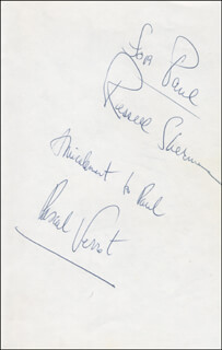RUSSELL SHERMAN - INSCRIBED SIGNATURE CO-SIGNED BY: PASCAL VERROT, JOHNNY BACH