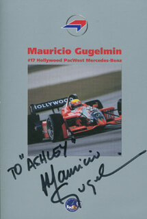 MAURICIO GUGELMIN - INSCRIBED ADVERTISEMENT SIGNED