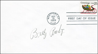 BILLY BARTY - FIRST DAY COVER SIGNED