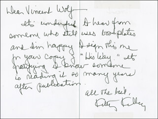 KITTY KELLEY - AUTOGRAPH LETTER SIGNED