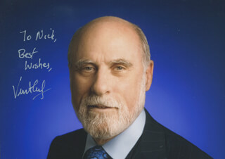 VINTON G. CERF - AUTOGRAPHED INSCRIBED PHOTOGRAPH
