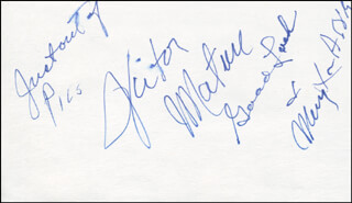 VICTOR MATURE - AUTOGRAPH SENTIMENT SIGNED