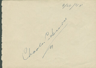 CHARLES D. COBURN - AUTOGRAPH CIRCA 1945 CO-SIGNED BY: LANA TURNER