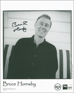 BRUCE R. HORNSBY - PRINTED PHOTOGRAPH SIGNED IN INK