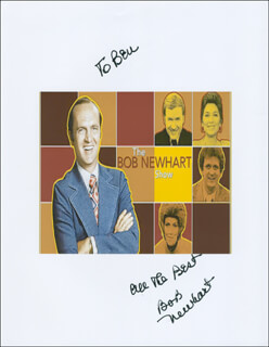 BOB NEWHART - PRINTED PHOTOGRAPH SIGNED IN INK