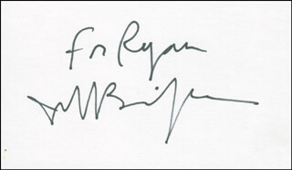 JEFF BRIDGES - INSCRIBED SIGNATURE