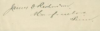 JAMES D. RICHARDSON - AUTOGRAPH