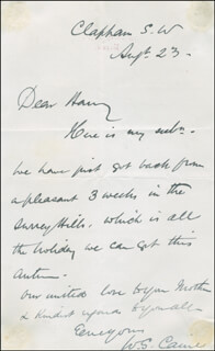 WILLIAM SPROSTON CAINE - AUTOGRAPH LETTER SIGNED 08/23