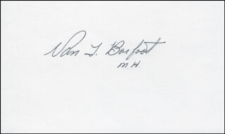 Autographs: COLONEL VAN T. BARFOOT - SIGNATURE(S)