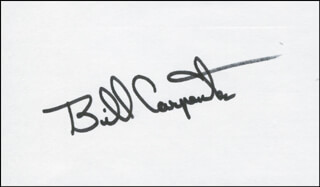 Autographs: LT. GENERAL BILL CARPENTER - SIGNATURE(S)