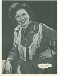 PATSY CLINE - MAGAZINE PHOTOGRAPH SIGNED  - HFSID 305673