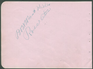 ROSCOE ATES - AUTOGRAPH SENTIMENT SIGNED
