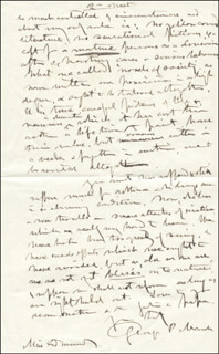 GEORGE PERKINS MARSH - AUTOGRAPH LETTER SIGNED 09/27/1878