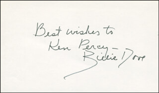 BILLIE DOVE - AUTOGRAPH NOTE SIGNED