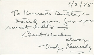 MADGE KENNEDY - AUTOGRAPH NOTE SIGNED 03/02/1985