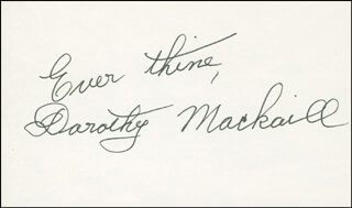 DOROTHY MACKAILL - AUTOGRAPH SENTIMENT SIGNED