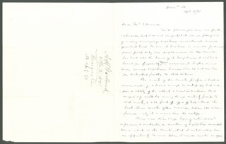 AUGUSTUS H. GARLAND - AUTOGRAPH LETTER SIGNED 04/08/1891